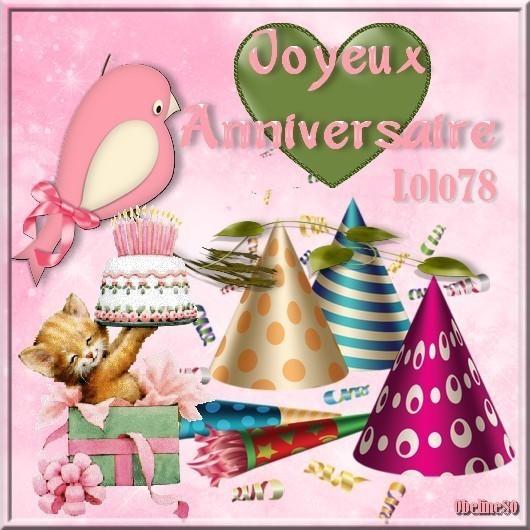 Joyeux Anniversaire Lolo
