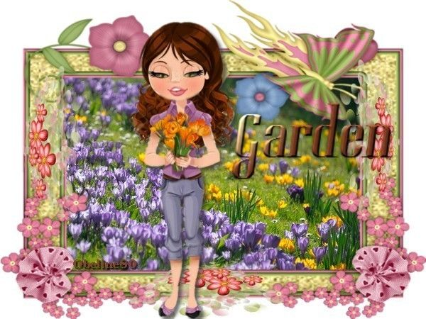 Défi Fille au jardin